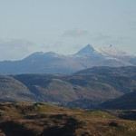 Looking north east to Ben Cruachan